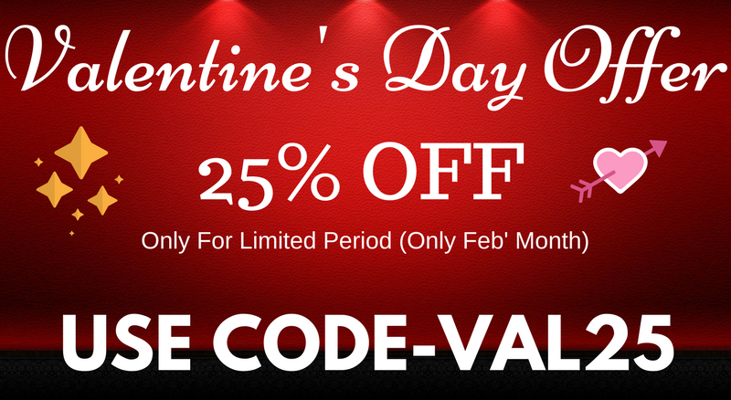 Valentine's Day Offer Code- VAL25