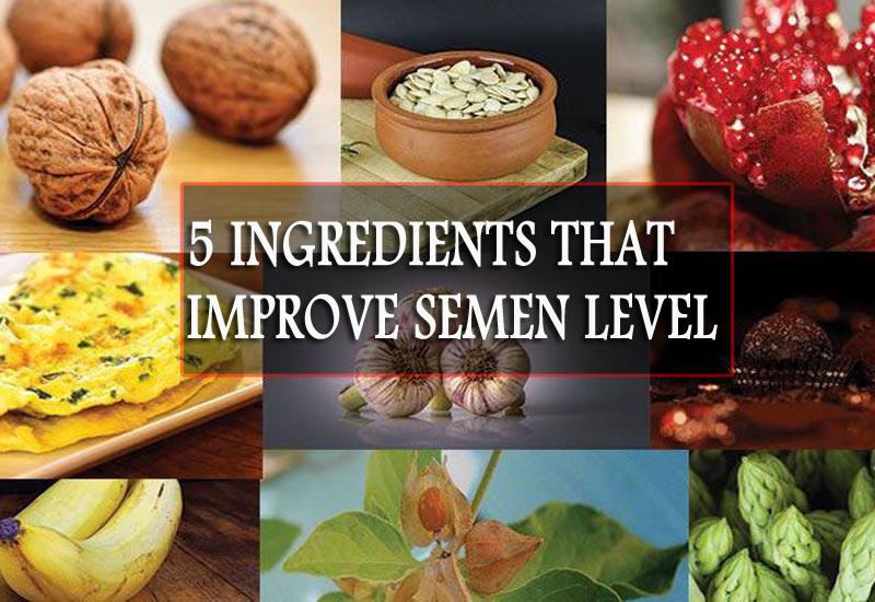 5 Ingredients which can Improve Semen Level